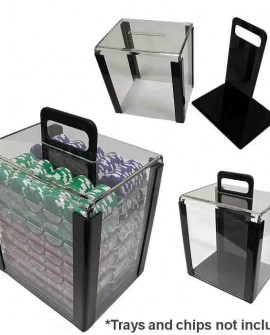 Empty 1000Pcs Acrylic Chip Fill Carrier