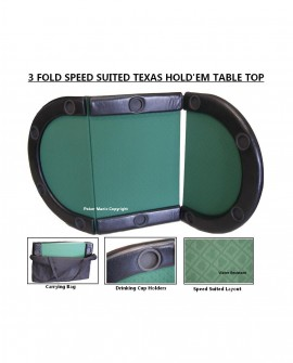 3 Fold Speed Suited Padded Table Top