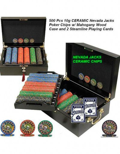500 10g Nevada Jacks Ceramic w Mohogany Case
