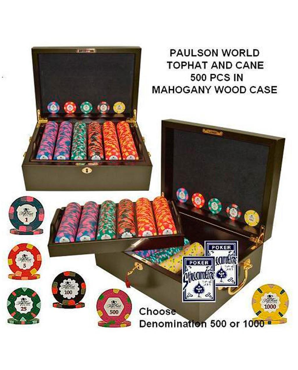 500 10g Paulson World Top Hat and Cane Mahogany